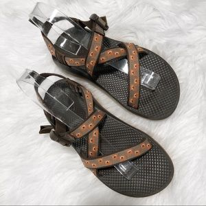 Chaco Big Kid's Z Ecotread Martian Sandals EUC